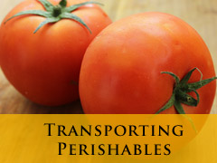 transporting perishables vertical banner